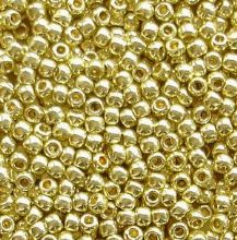 Toho 11/0 Seed Beads, Permanent Finish Galvanised Yellow Gold PF559 - 10 grams
